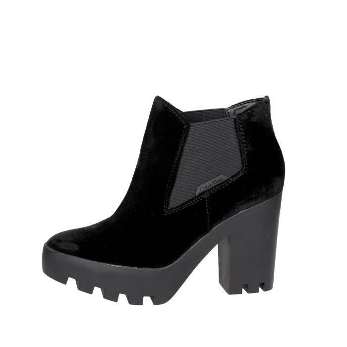 Calvin Klein Jeans Bottines Avec Talons Femme Noir, 40