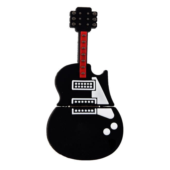 CLÉ USB Mini Cle USB 2.0 4Go Fantaisie Porte Guitare Rock