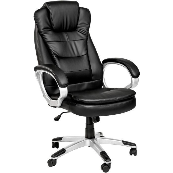 Epais Rembourrage Tectake Noir Siège Chaise Double RéglablePivotante De Bureau Hauteur BureauFauteuil BhrCQxtsd
