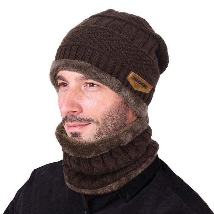 BONNET - CAGOULE Bonnet chaud et écharpe circulaire, 2 pièces