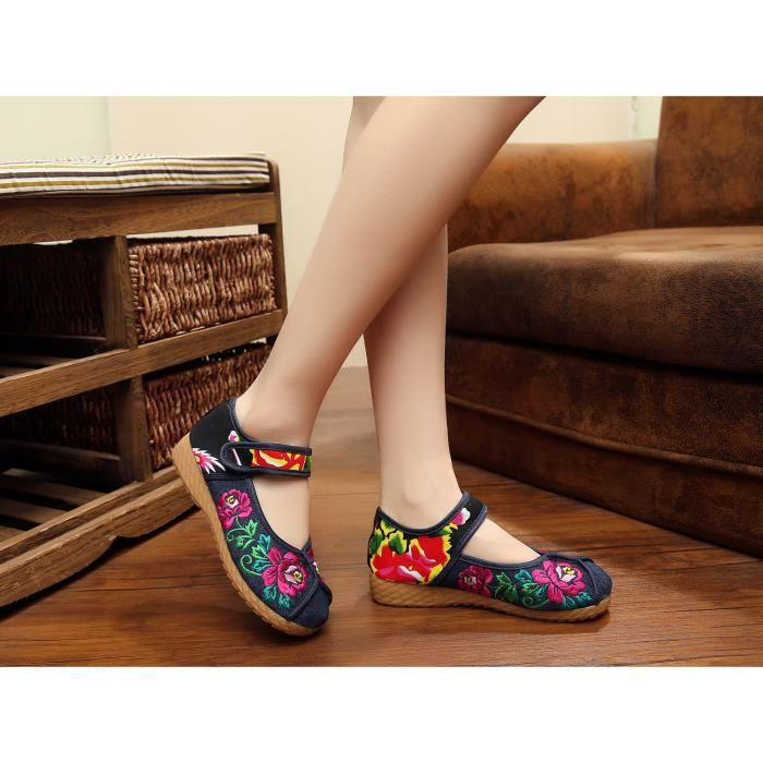 sandales Femmes sport d'été brodées chaussur de Ynvg7R
