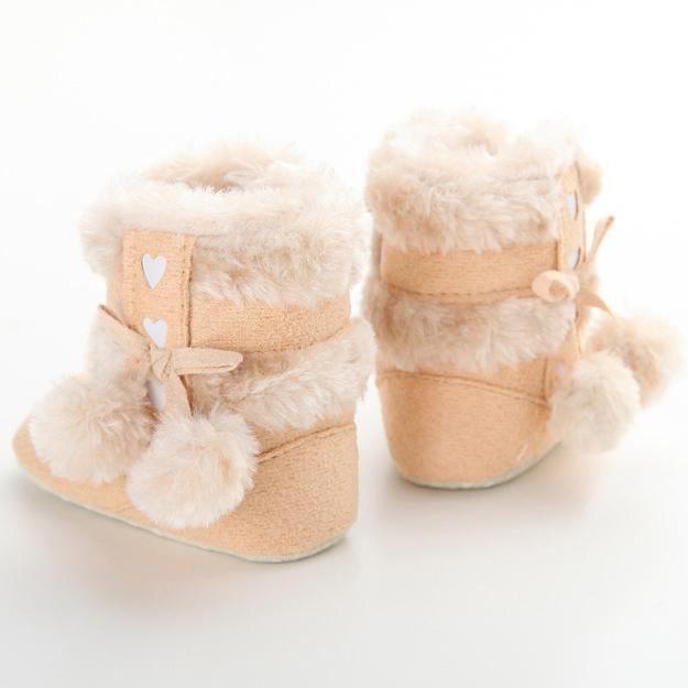 Bottes de neige de bébé Soft Sole Bottes de berceaux souples Bottes de tout-petit rouge ZDHi1z9