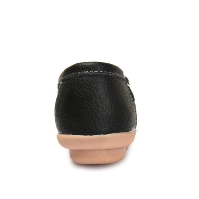 Mocassin Femmes Mode Loafer Detente Classique Chaussures BBDG-XZ088Noir37