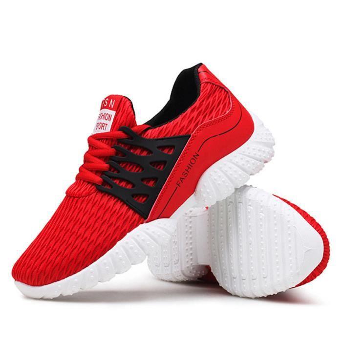 Basket Homme Ultra Léger Chaussures De Sport Populaire BXX-XZ129Rouge44 1Qw19e