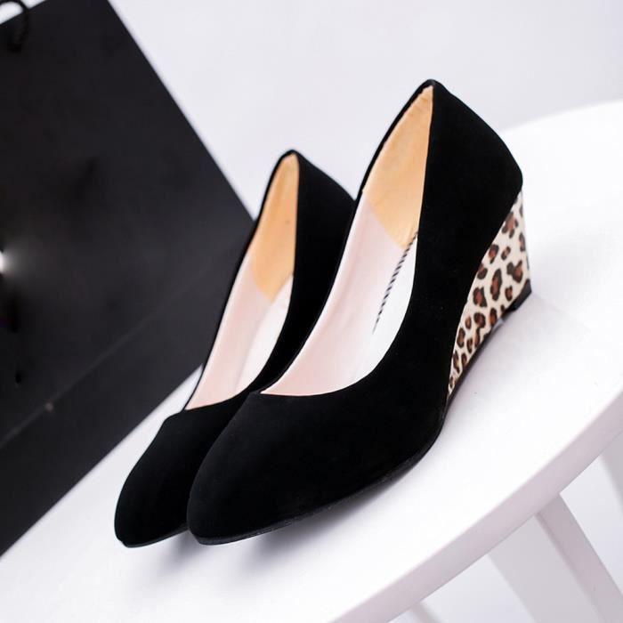 on Slope Noir High Round Career Femmes Slip Sandals Toe Platform Fashion Heels xcFPOB