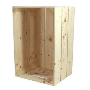 caisse en bois achat vente caisse en bois pas cher cdiscount. Black Bedroom Furniture Sets. Home Design Ideas