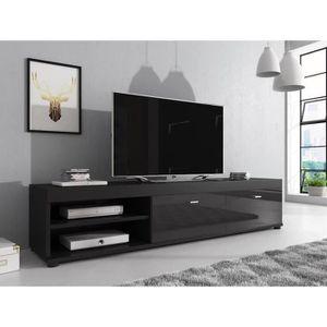 MEUBLE TV ELSA Meuble TV contemporain décor Noir  - 140 cm