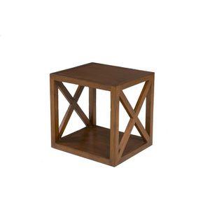 TABLE BASSE LOLA Table d'appoint style ethnique - L 40 cm