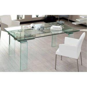 TABLE À MANGER COMPLÈTE Table design extensible VITRO 140cm