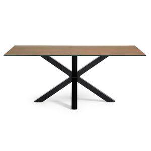 TABLE À MANGER SEULE Table New Argo 200x100, Noir Porcelanique Iron Cor
