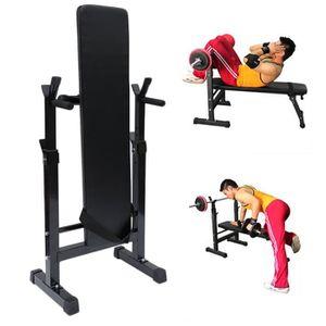 BANC DE MUSCULATION Banc De Musculation Support Haltères Longs Réglabl