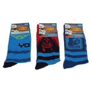 CHAUSSETTES 1 paire de chaussettes Star Wars - 3 modèles - tai