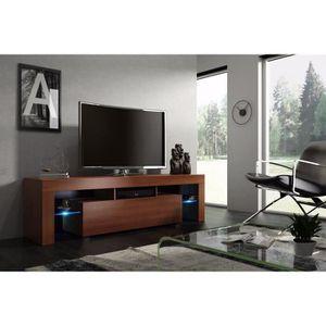 MEUBLE TV Meuble tv 160 cm noyer MDF avec led