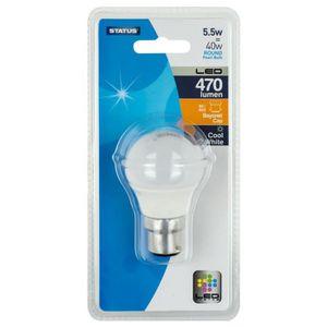 AMPOULE - LED STATUS LED ampoule à baïonnette ronde - 5.5W - 470