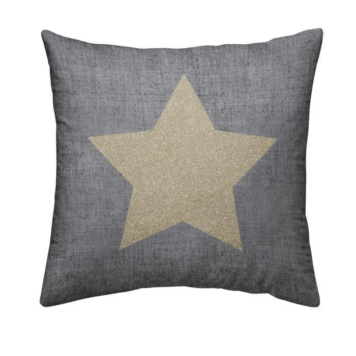 TODAY Coussin déhoussable Chambray Coton GOLD STAR - 40x40cm