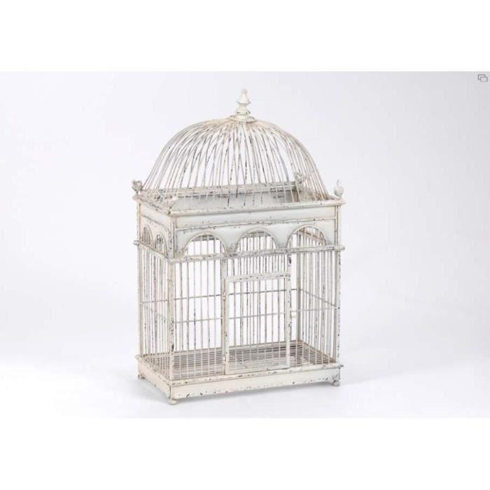 Cage oiseaux en fer vieilli d co amadeus dim achat - Cage oiseau decorative interieur ...