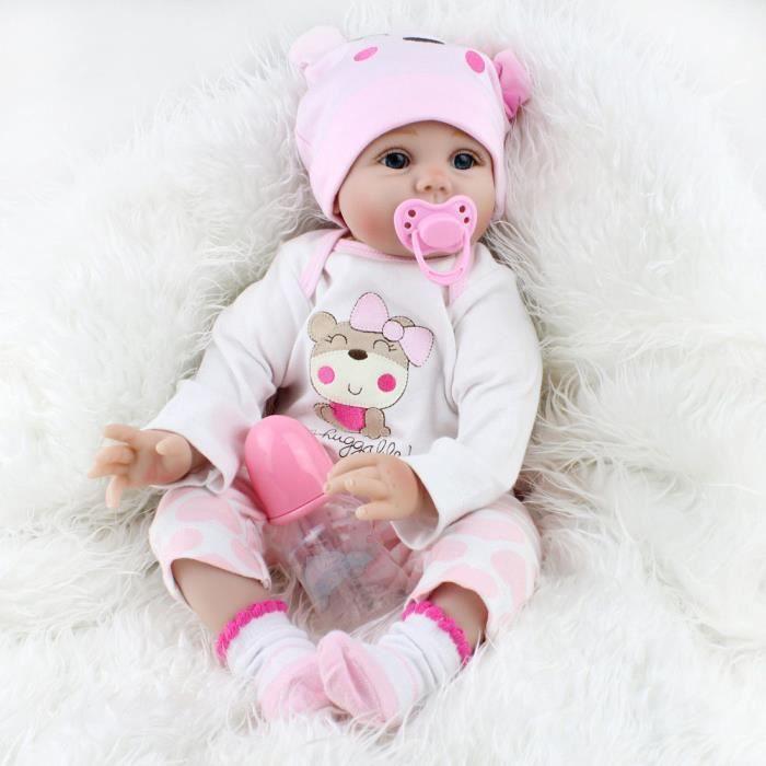 02d9165831440 Yadeou® Lifelike Reborn Baby Doll 55 cm poupée nouveau-né enfants ...
