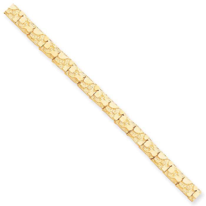 10 k 7 mm Motif pépite Bracelet 7 Haute qualité-Or Or 9 Carats que