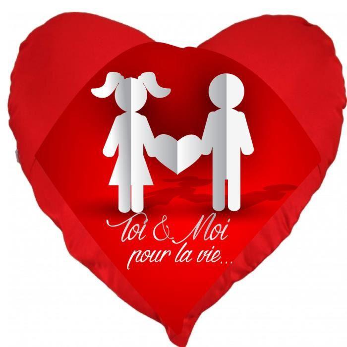 Coussin st valentin coeur toi et moi pour la vie un - Coeur st valentin ...