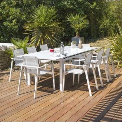 Salon de jardin avec ralonge - Achat / Vente pas cher