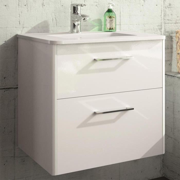 Meuble salle de bain suspendu et vasque porcela... - Achat / Vente ...