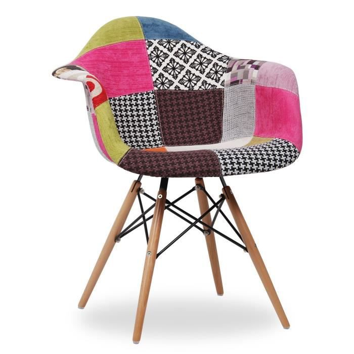 CHAISE Chaise Eames DAW Style Patchwork