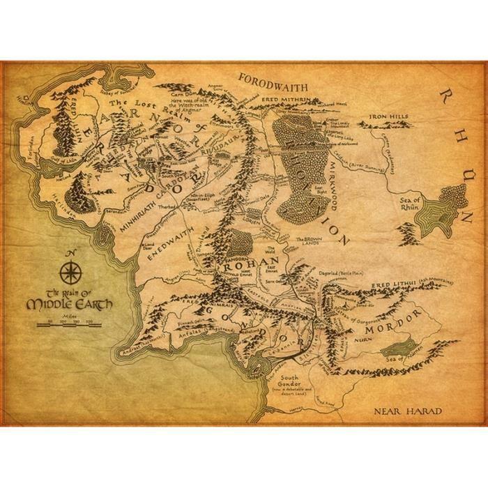 Carte Terre Du Milieu Hd.Carte De La Terre Du Milieu Le Seigneur Des Anneaux Hd 32