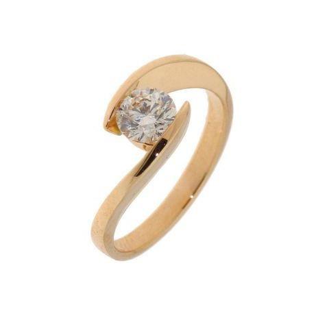 Bague or jaune Diamant