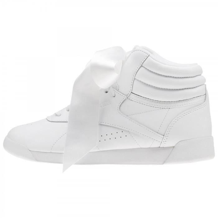 122029005ea Basket Reebok Freestyle Hi Satin Bow - CM8903 Blanc Blanc - Achat ...