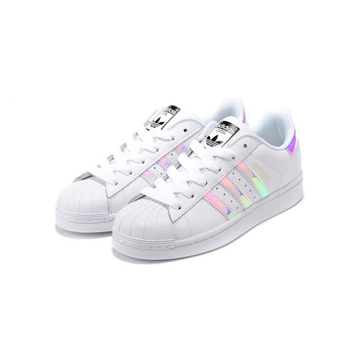 in stock d1c3c dc747 Baskets Adidas Superstar Junior Chaussures Base Homme Blanc Laser