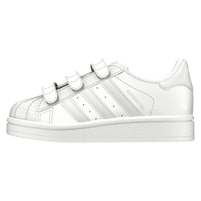 best sneakers 0b3e1 57366 Basket ADIDAS SUPERSTAR CF I - BZ0416 - AGE - ENFANT, COULEUR - BLANC, GENRE  - MIXTE, TAILLE - 25,5