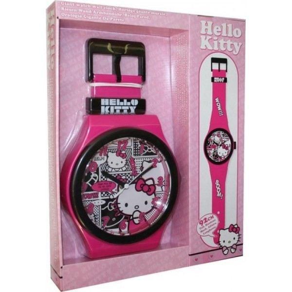 Montre Horloge Geante Hello Kitty Achat Vente Horloge Pendule
