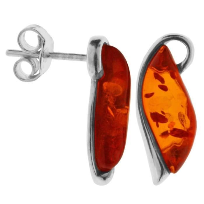 In Collections - 0010265120890 - Boucles Doreille Femme - Argent Fin 925-1000 - Ambre ABCKH