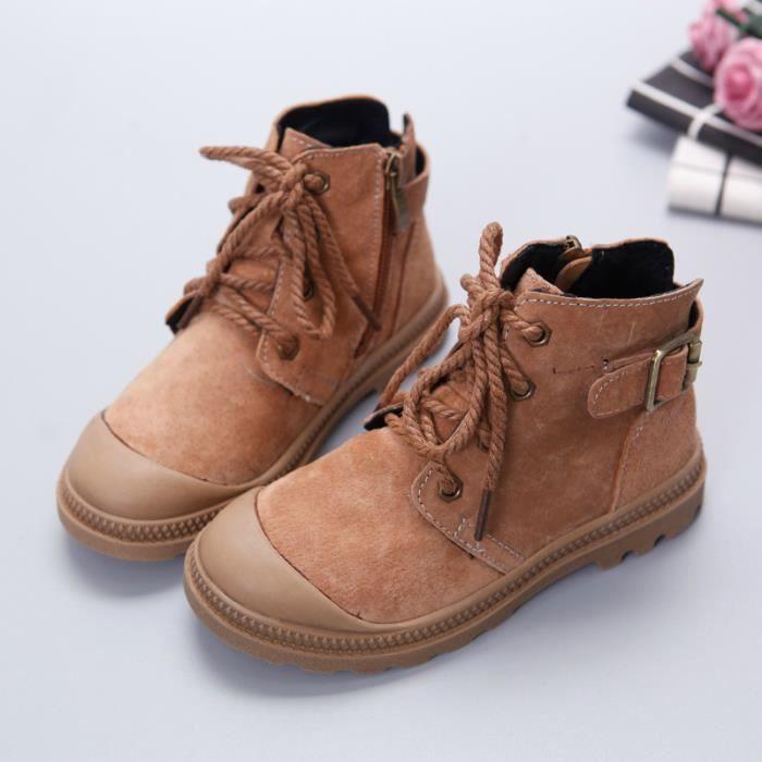 Bottes marron en cuir pour enfants