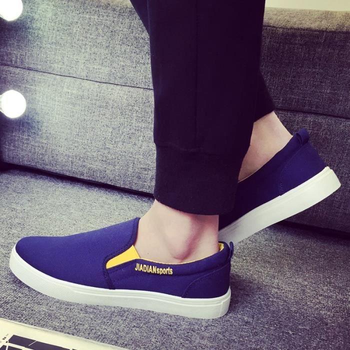 L'arrivée de nouveaux British Style Flat Mode Chaussures Hommes solides Loisirs Mocassins pour Casual Male Driving Flats 6JOAV3