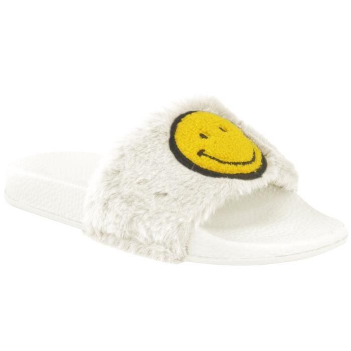 Slipper assorties Vente 41 Furry Flop Faux Lauren Wide couleurs Band Taille Pour Sandal KOYON Flip TPTqApx8