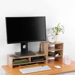 support ecran bois prix pas cher soldes d s le 10 janvier cdiscount. Black Bedroom Furniture Sets. Home Design Ideas