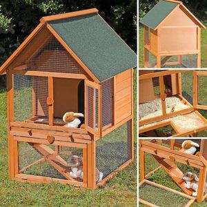 CLAPIER CLAPIER magnifique cage à lapin en bois imprégné