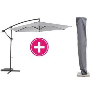 Parasol déporté 3M gris avec sa housse   Achat / Vente parasol