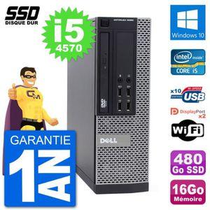 ORDI BUREAU RECONDITIONNÉ PC Dell OptiPlex 9020 SFF Intel Core i5-4570 RAM 1