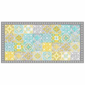 TAPIS Tapis rectangle 50 x 100 cm vinyle alicante Jaune
