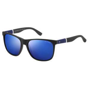 e2d2ad18c9 Lunettes de soleil Tommy Hilfiger TH 1405-S -FMVIC Noir mat - Bleu ...
