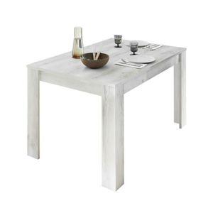 TABLE À MANGER SEULE Table de repas rectangulaire Pin blanc - LUBIO - L