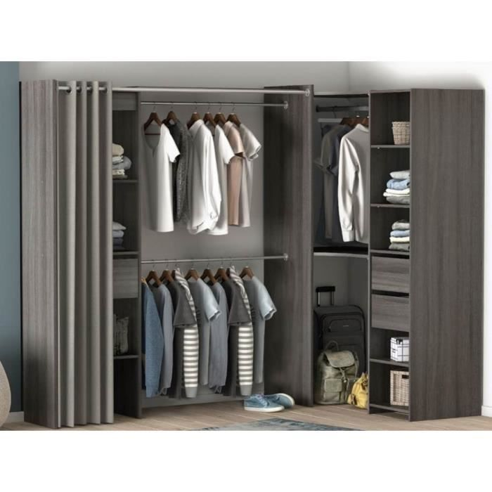 dressing d 39 angle achat vente dressing d 39 angle pas cher cdiscount. Black Bedroom Furniture Sets. Home Design Ideas