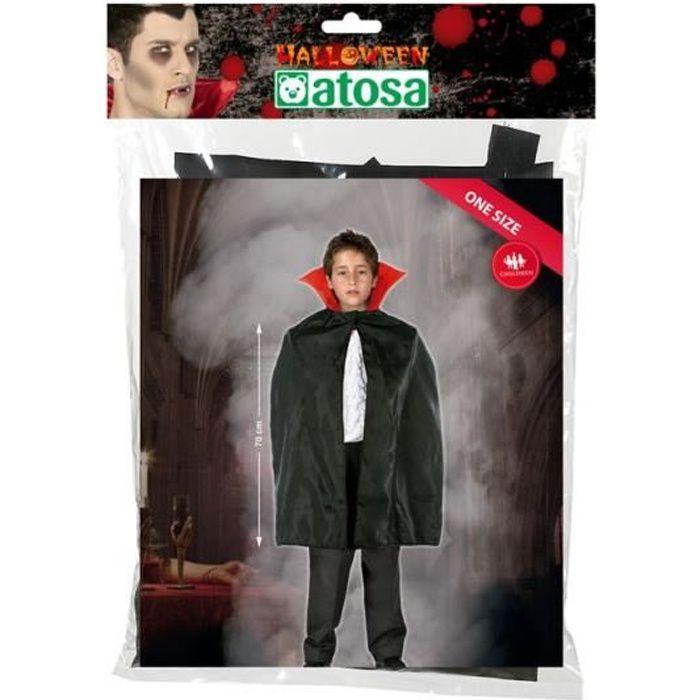 ATOSA - Déguisement Cape Vampire Rouge Enfant