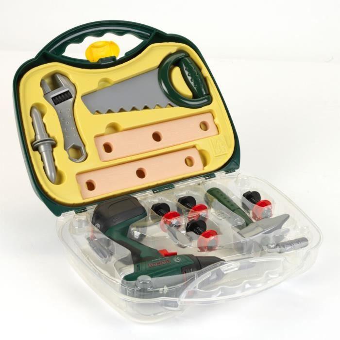 BOSCH - Mallette à outils avec visseuse et accessoires pour Enfant