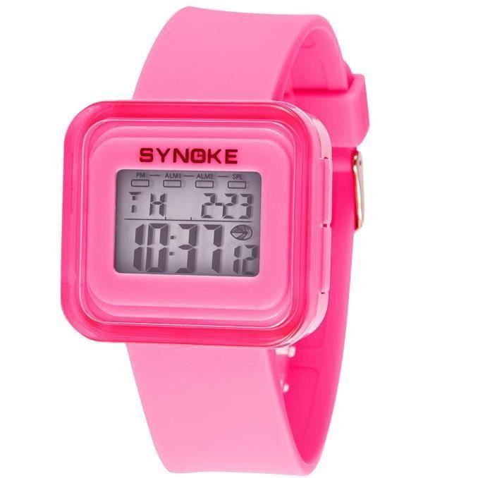 MONTRE Silicone LED numérique montre-bracelet Sport Kid F