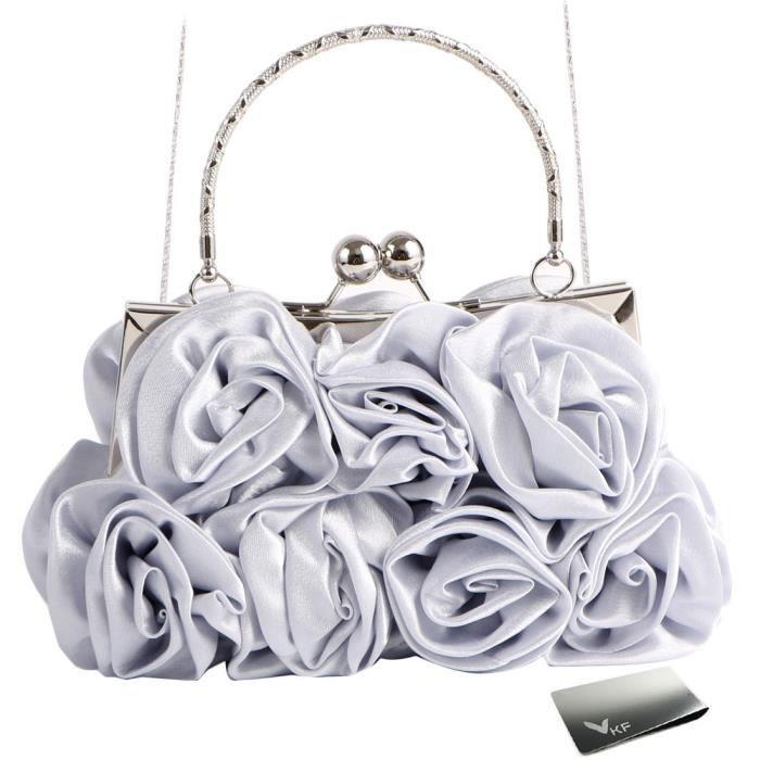 Missy k 7 rose sac à main dembrayage, satin, avec sangle détachable + pince à billets WK2U9