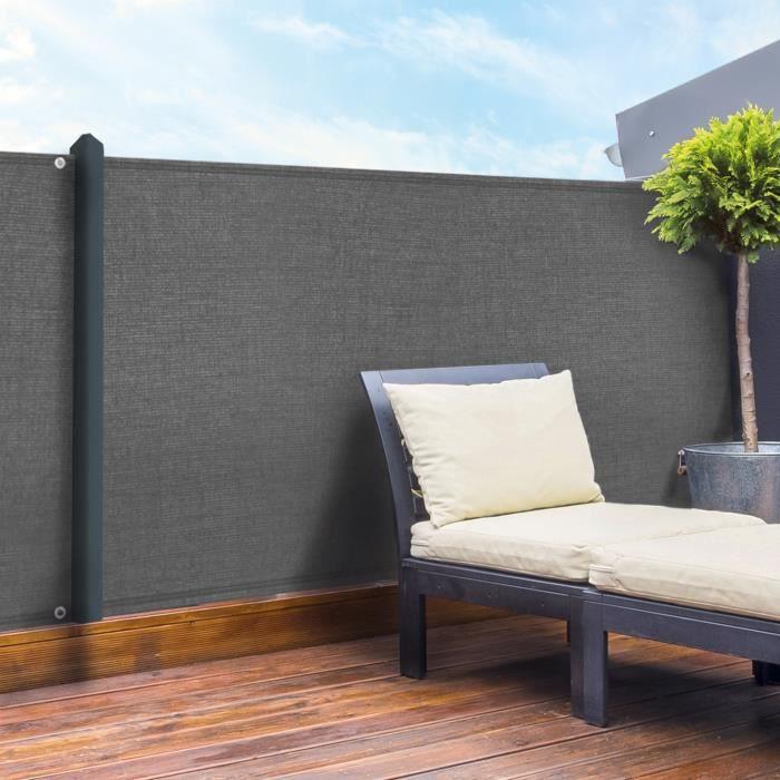 brise vue 1 5 gris achat vente pas cher. Black Bedroom Furniture Sets. Home Design Ideas