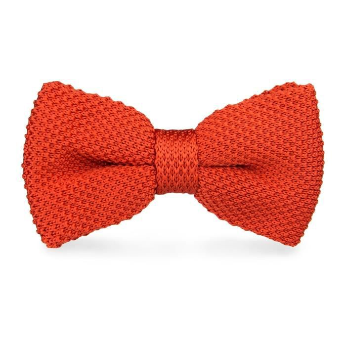 e50ed5203112a Noeud Papillon Laine Tricot Orange brique Orange - Achat / Vente ...